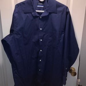 Mens Chaps Regular FIt Navy Dress Shirt